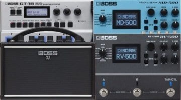 BOSS RV-500, MD-500-GT-1B and Katana mini amp