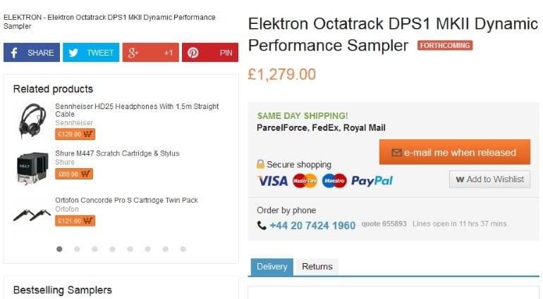 Elektron Octatrack MK2 leaked?