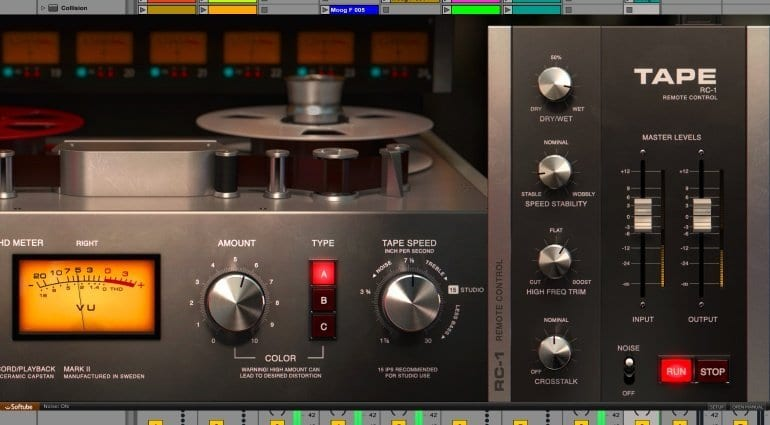 Softube Tape combines 3 virtual analogue tape machines in one plug