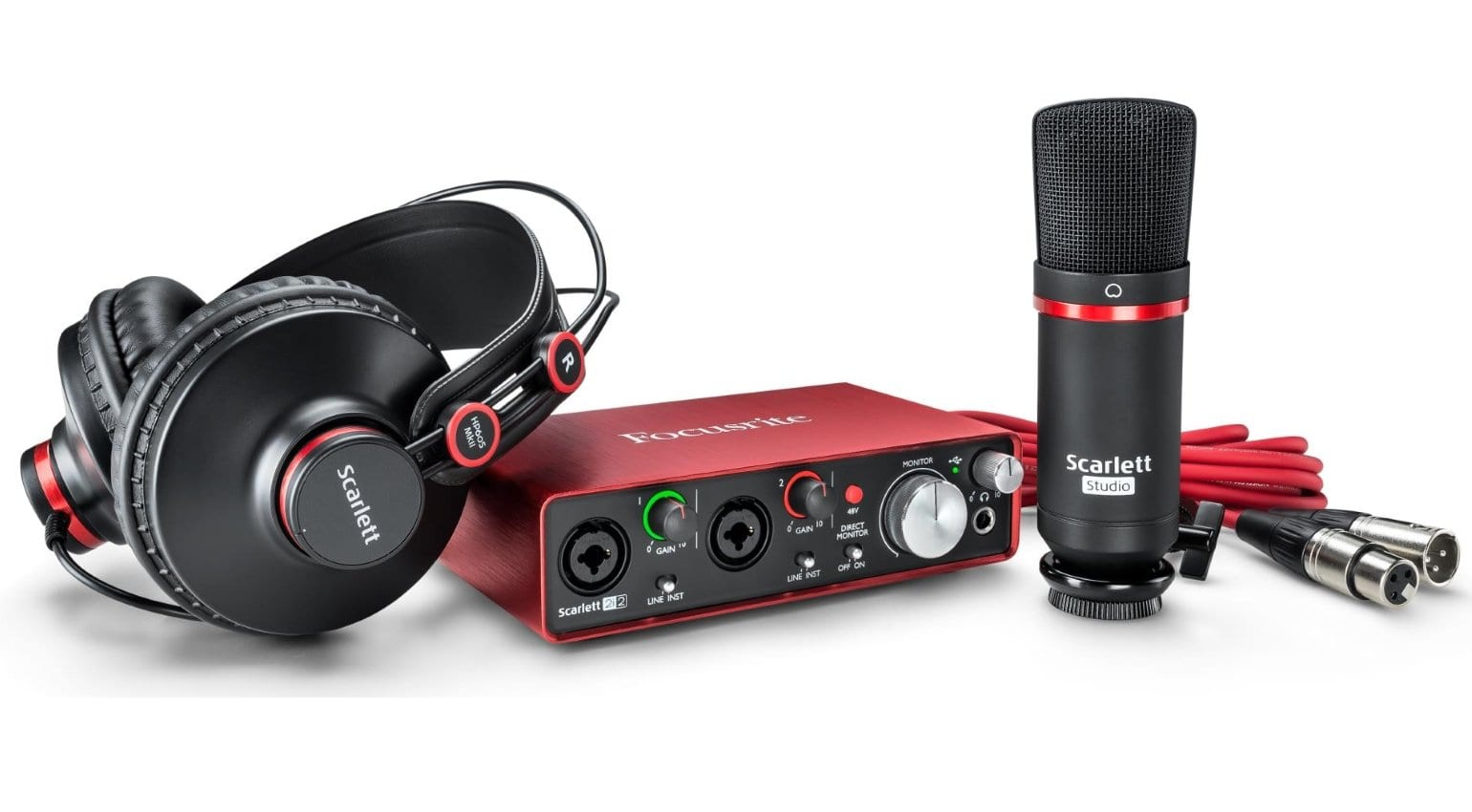The Focusrite Scarlett 2i2 Studio Pack