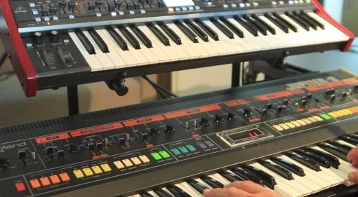 Behringer DeepMind 12 Roland Jupiter 8 shoot-out comparison
