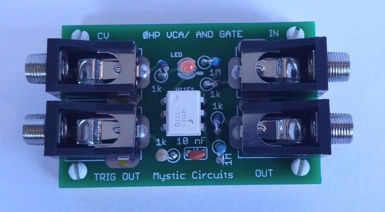 Mystic Circuits 0HP VCA/AND gate