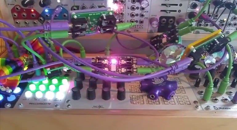 A gaggle of 0HP logic gates