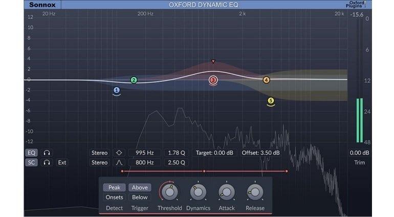 Sonnox Dynamic EQ screenshot