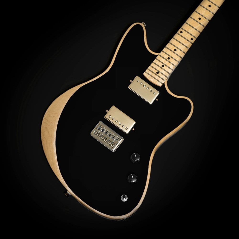 Black with Humbuckers Moniker Guitars The Rival Series