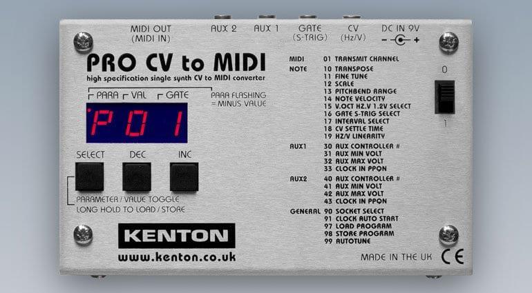 cv to midi Kenton Pro CV to MIDI single synth converter   gearnews.com