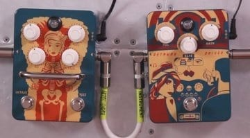 Orange Fur Coat Fuzz and Getaway Driver pedals