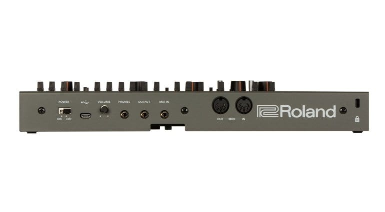 Roland SH-01A rear panel