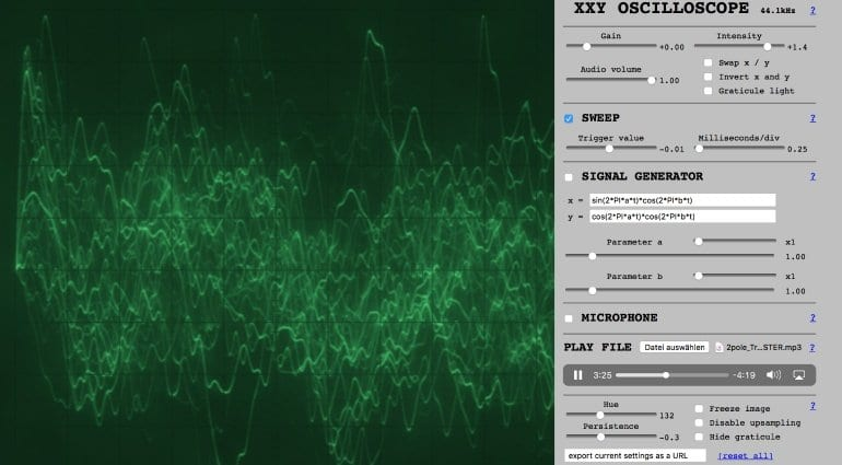 XXY Oscilloscope Free Browser