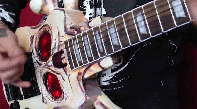 Devil & Sons Skull and Crossbones guitars