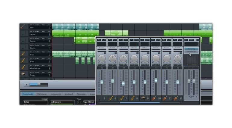 A Magix Music Maker session
