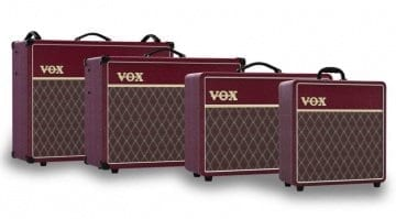 Vox Limited Edition Maroon Bronco AC Custom amps