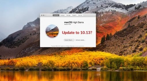 Apple MacOS 10.13 High Sierra - should I update?