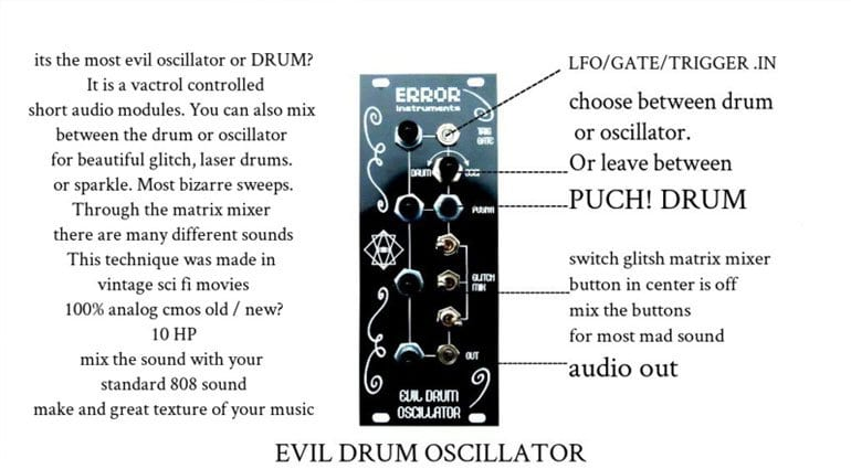 Error Instruments Evil Drum Oscillator