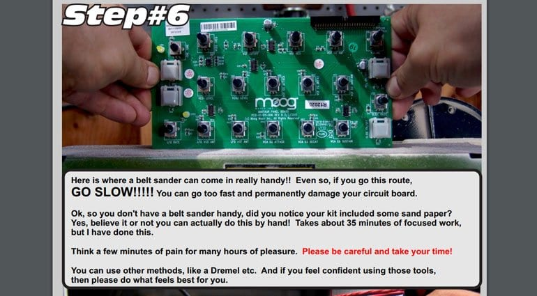 Moog Minitaur DIY conversion kit guide