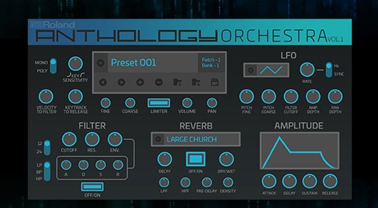 Roland Cloud 4 4 Anthology Orchestra is the JV-80 orchestral