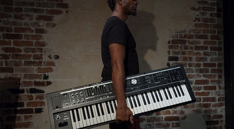 V-Combo VR-730 and VR-09-B live performance keyboards from