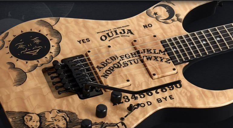 ESP Kirk Hammett limited edition quilted maple Ouija Board