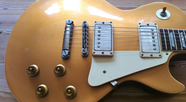 Gibson Gold Top '57 dark back