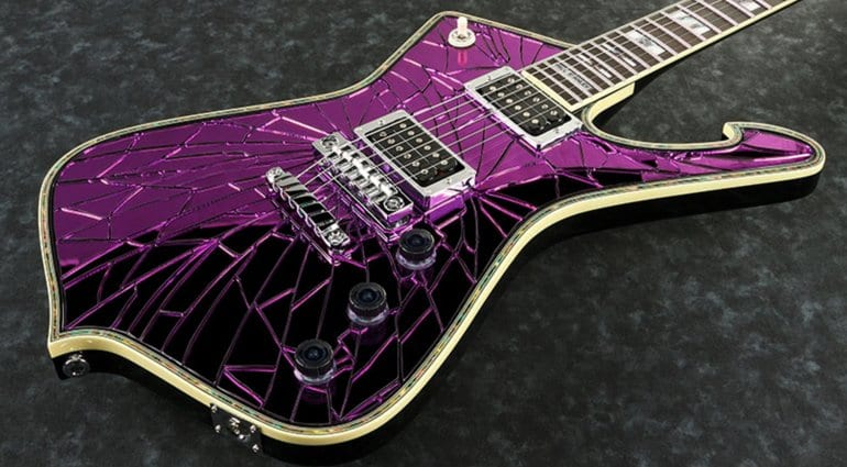 Ibanez PS2CM Paul Stanley limited edition purple cracked mirror finish