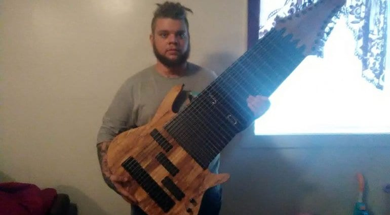 Jared Dines Olson Guitarworks 17 string guitar