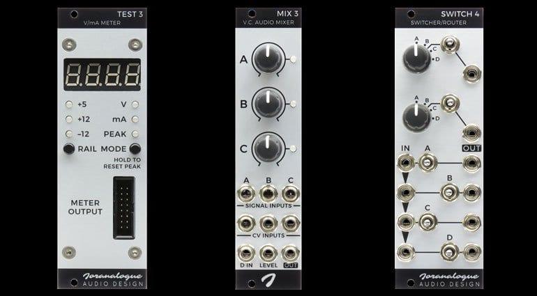 Joranalogue Audio Design Test 3, Mix 3 and Switch 4
