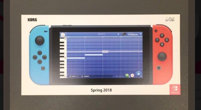 Korg Gadget Switch piano roll