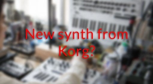 This is not an image of a new synth from Korg