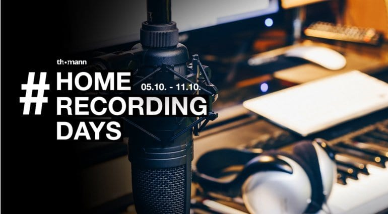 Give-aways, offers and tutorials at the Thomann #HomeRecordingDays