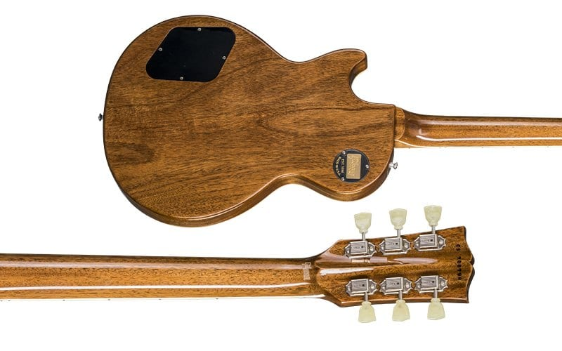volute neck headstock Gibson Custom Shop Modern Les Paul Standard Rainbow colours