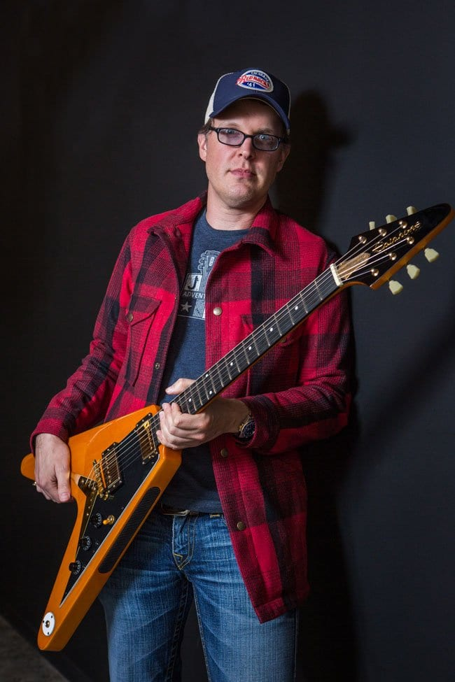 Joe 'Endorsement King' Bonamassa and Amos the Flying V