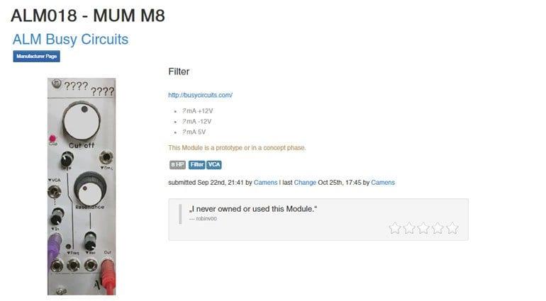 ALM MUM M8 on ModularGrid