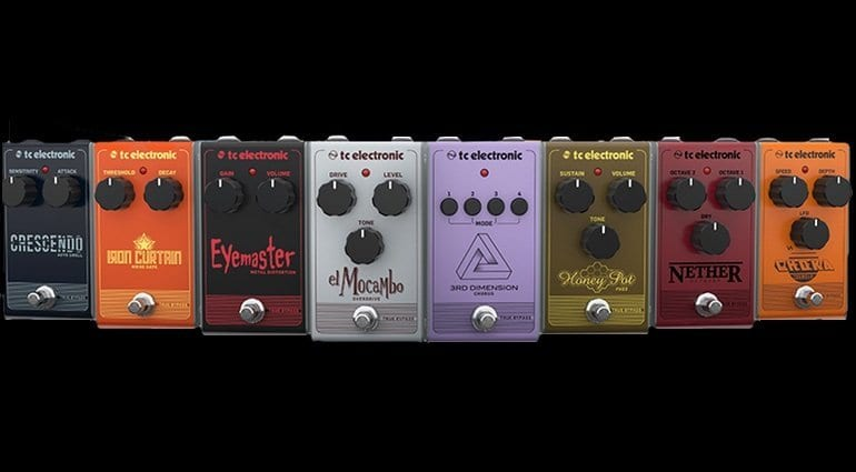 TC Electronics Analog Armada analogue effects pedal range