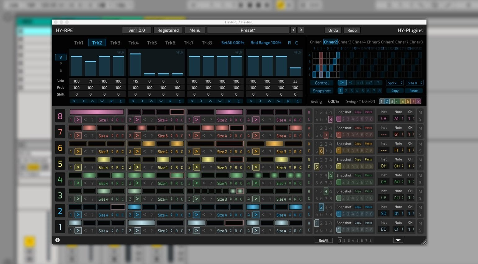 Trigger synths and effects with the new HY-RPE step