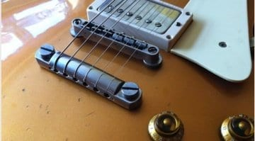 Jef's Gibson Les Paul Custom R7 with Faber locking bridge, studs and aluminium tailpiece