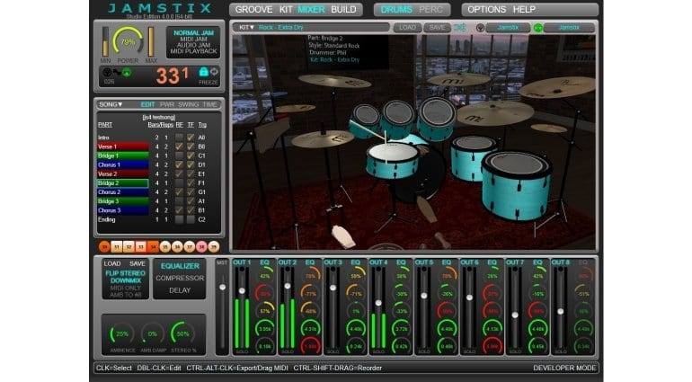Jamstix 4 virtual drummer