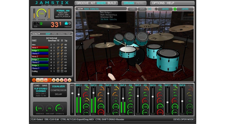 Jamstix 4 virtual drummer - best free plug-ins