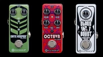 Pigtronix Gate Keeper, Octava and Micro Boost