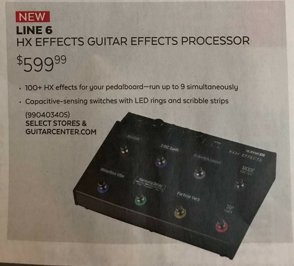 Line 6 HX effects leaked