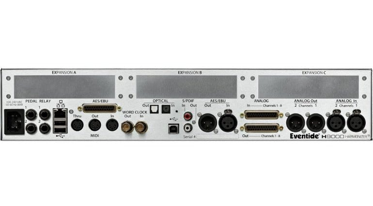 Eventide H9000R Rear panel