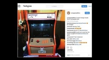 Orange Custom Arcade Terror machine