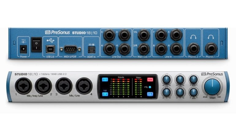PreSonus Studio 18 10 - front and back
