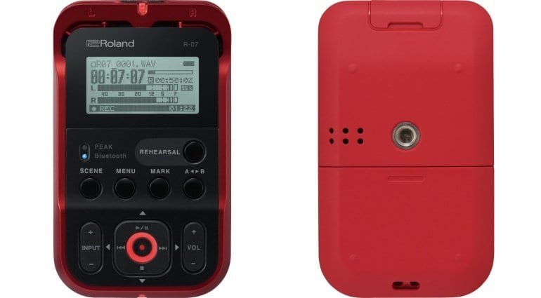 Roland R-07 Recorder Front and Back