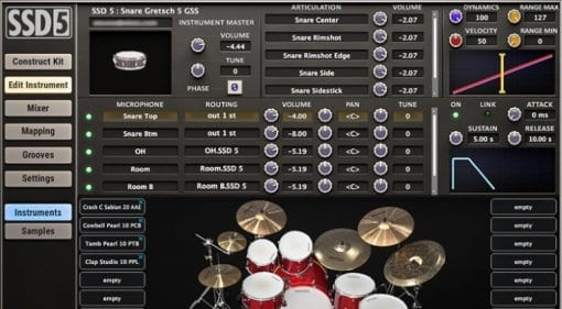 Steven Slate Drums 5 comes with a redesigned user interface