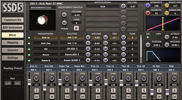 Steven Slate Drums 5 - mixer