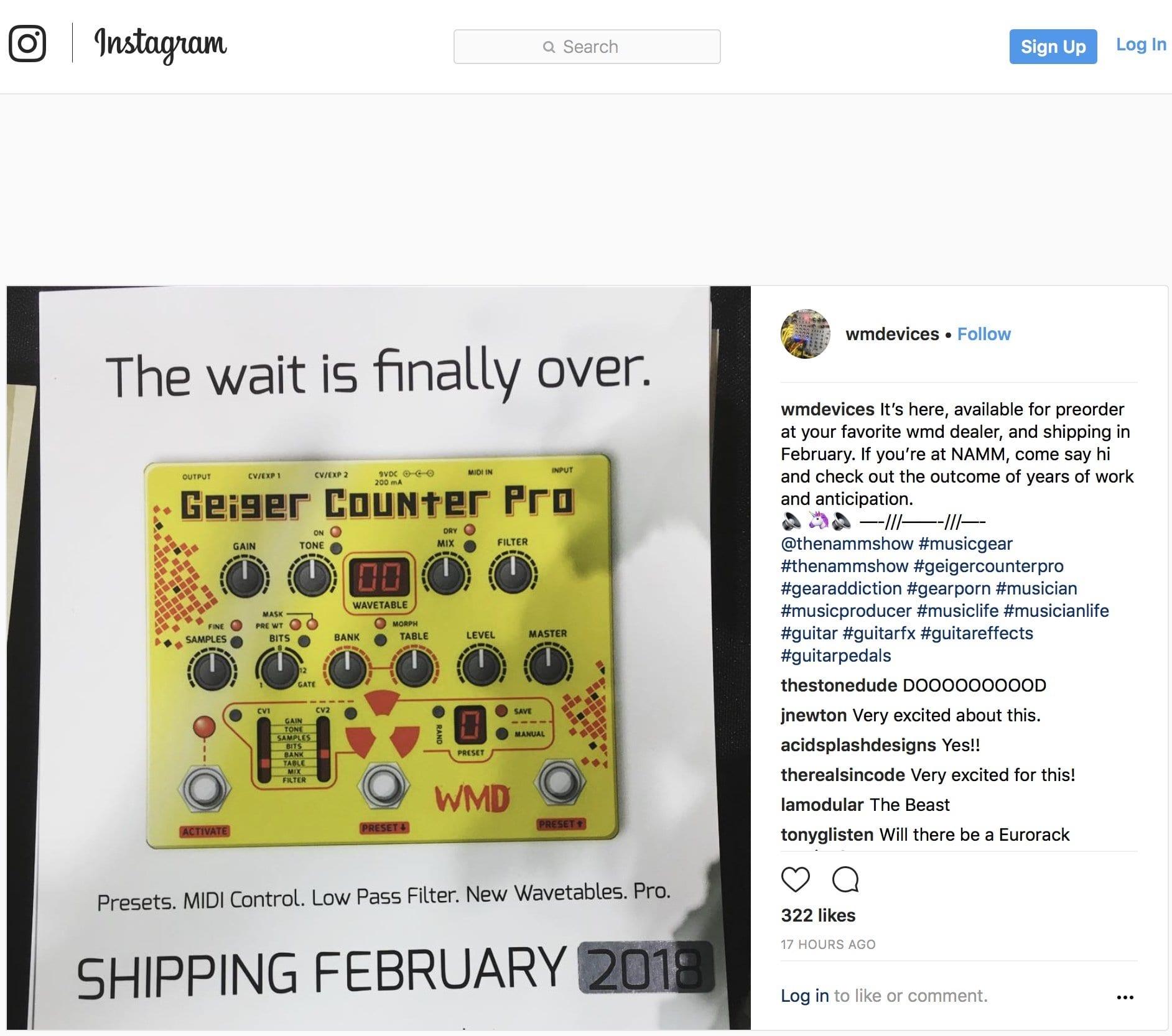 WMD Geiger Counter Pro on Instagram