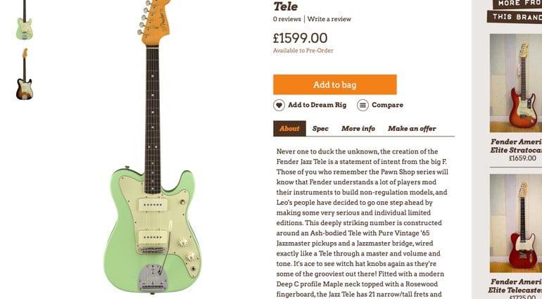 Wunjo Guitar Fender leak Jazz Tele