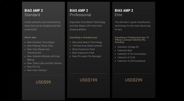 BIAS Amp 2 pricing