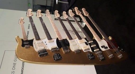 Fender 9 neck monstrosity at NAMM 2018