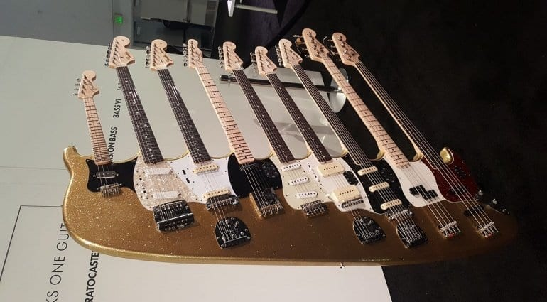 Fender 9 neck monstrosity at NAMM 2018